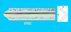Phào chỉ PS trắng vàng - Góc tường GT7512