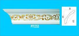 Phào chỉ PS trắng vàng - Chỉ góc trần PT1253