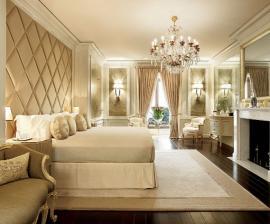 Mẫu phòng ngủ đẹp với kiểu trang trí phào chỉ nội thất vạn người mê