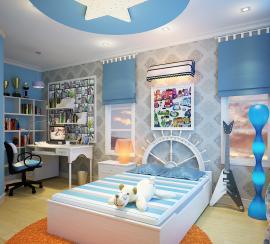 Trang trí phòng phòng ngủ cho bé yêu của bạn. Mẫu phòng ngủ cho bé thi công phào chỉ trần thạch cao.
